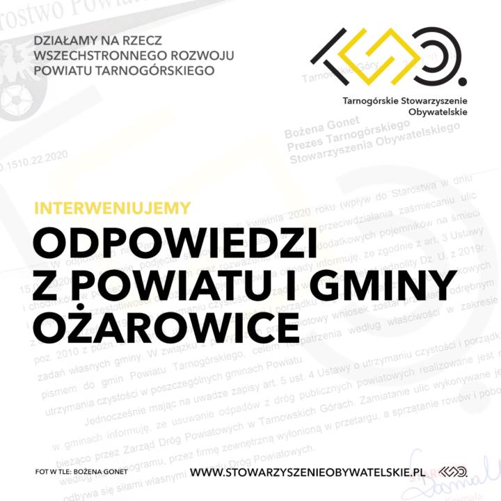 Odpowiedzi z powiatu i gminy Ożarowice