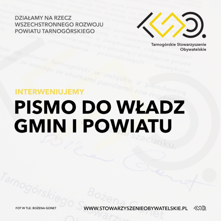 Pismo do władz gmin i powiatu