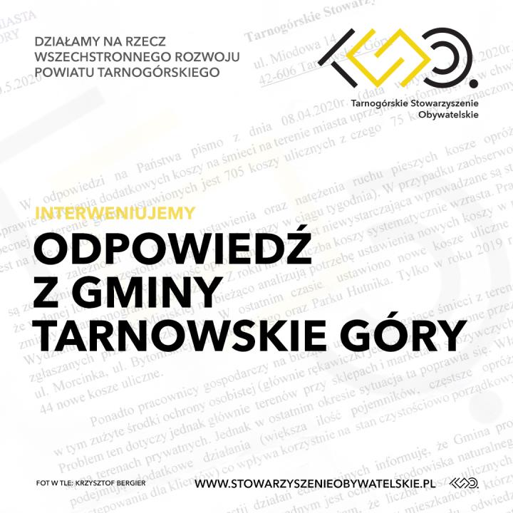Odpowiedź z gminy Tarnowskie Góry