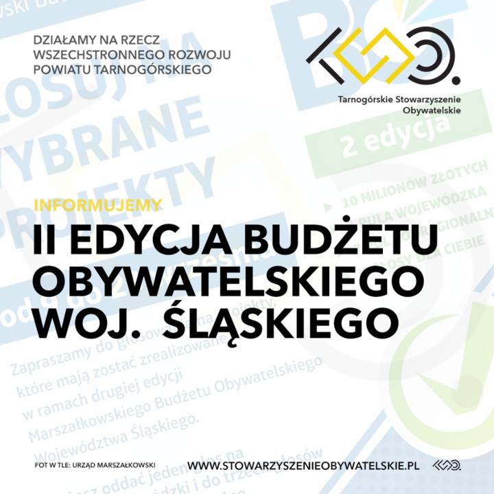 II Edycja Budżetu Obywatelskiego woj. Śląskiego