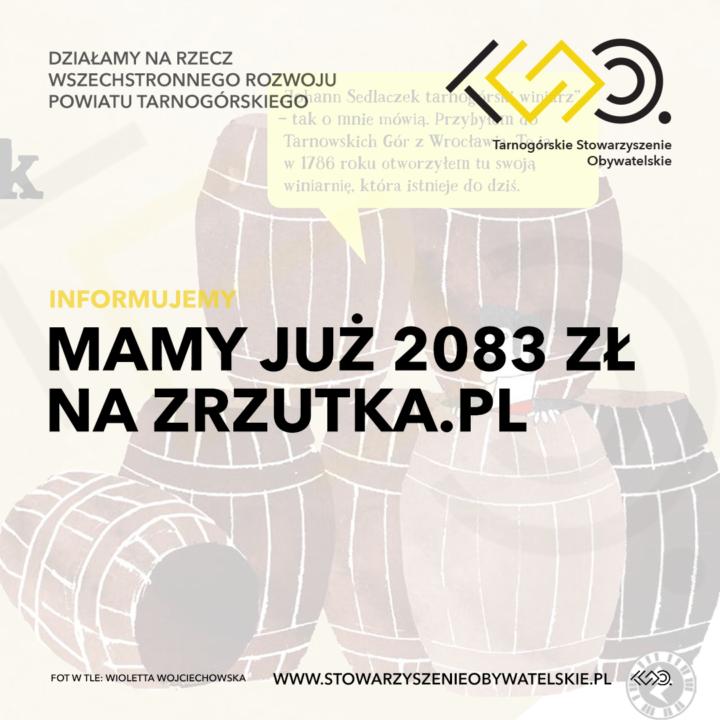 Mamy już 2083 zł na zrzutka.pl