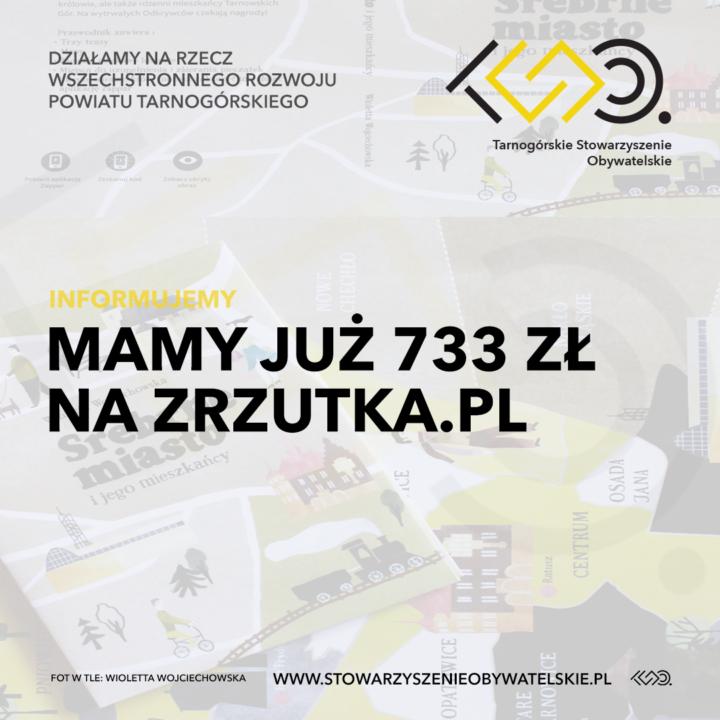 Mamy już 733 zł na zrzutka.pl